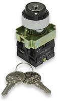 Переключатель c ключом NP2-BG25 1NO+1NC 2 положения с фиксацией