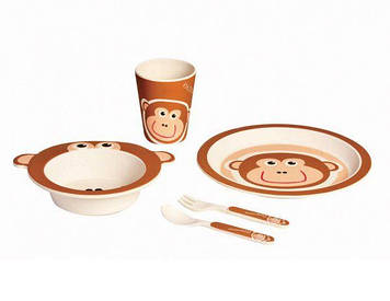 Набір дитячий мавпочка Con Brio CB - 254 5 предметів бамбук