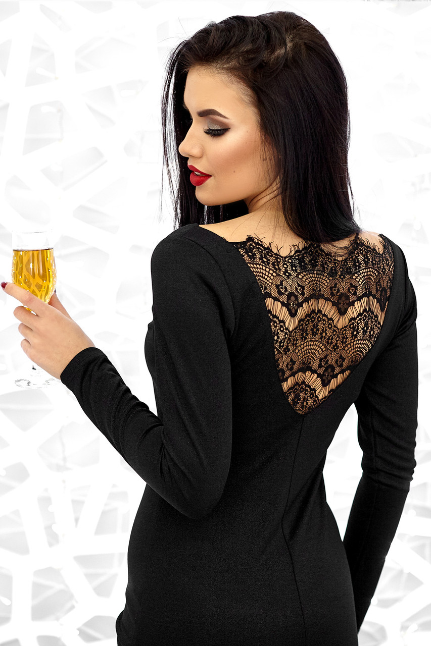 Платье Люси с гипюровой спинкой (42-48 в расцветках)