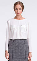 Женская блуза цвета экри с длинным рукавом. Модель U19 Sunwear.