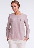 Женская блуза бежевого цвета с длинным рукавом. Модель U19 Sunwear.