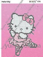 """Hello Kitty"".  Детская картинка  для вышивки бисером."