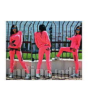 Стильный спортивный костюм Adidas, цвет ярко-розовый