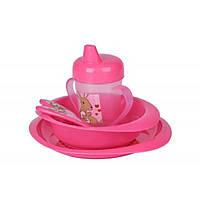 Набор детской посуды Nuvita 12м+ Розовый 5 предметов (NV1495Pink), фото 1