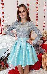 Яркое стильное платье Миранда мята(р.38-44) рост 140-158