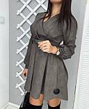 Сукня жіноча замшеве чорне, графіт, фото 2
