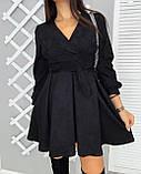 Сукня жіноча замшеве чорне, графіт, фото 4