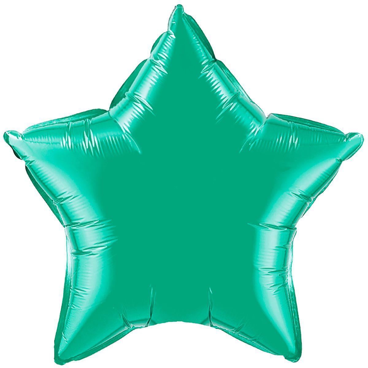 """Фольгований куля ФМ 18"""" зірка смарагдова"""