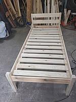 Кровать деревянная новая из натурального дерева односпальная
