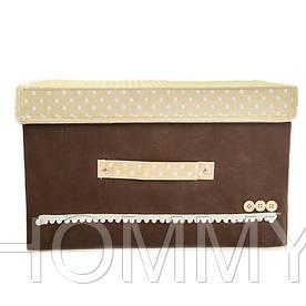 Короб складной 24,5*18,5*15 см. Кофр, органайзер. Коричневый