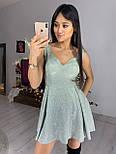 Платье из трикотажа люрекс с расклешенной юбкой и вырезом  vN6095, фото 2