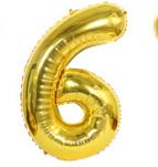 Шарик -цифра, фольгированный, 45 х 29 см, цвет золото