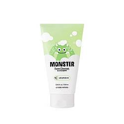 Зволожувальна освіжаюча пінка для ефективного очищення шкіри обличчя Etude House Monster Foam cleanser