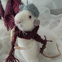 """Іграшка пацючок """"Мамин синок"""", сухе валяння, фото 1"""