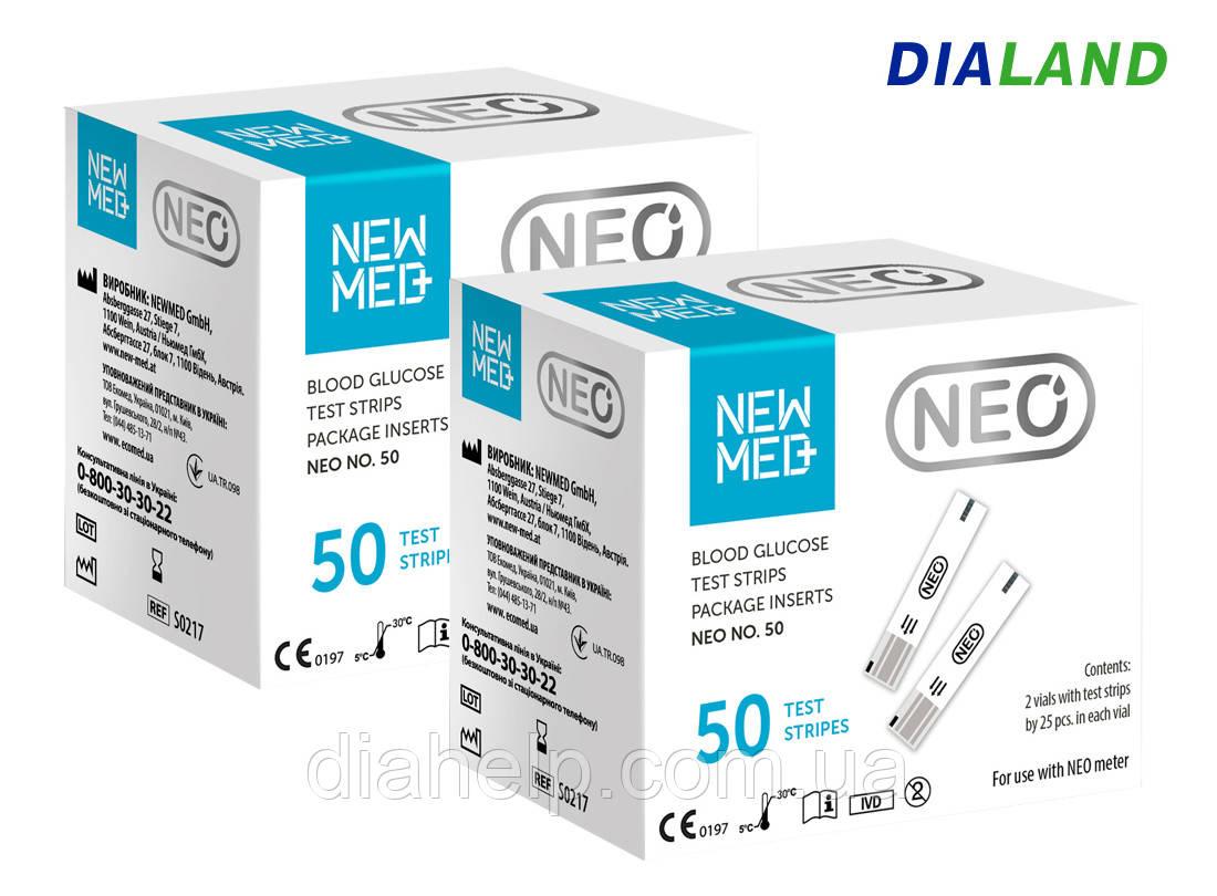 Тест-полоски Нью Мед НЕО (New Med Neo) 2 упаковки - 100 штук