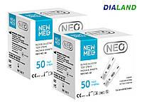 Тест-полоски Нью Мед НЕО (New Med Neo) 2 упаковки - 100 штук, фото 1