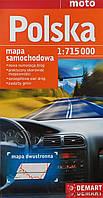 POLSKA   mapa samohodowa.  1: 715 000