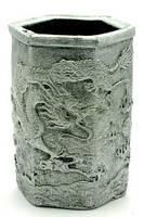 """Підставка для ручок """"Дракони"""" срібло (11х7х8 см)"""