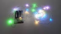 Гирлянда светодиодная RGB (LED), 10 м, с батарейками ААх3 (Гирлянда Нить на батарейках, микронить), фото 1