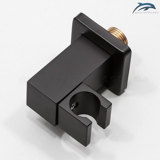 Кронштейн с подключением лейки ручного душа для душевой системы скрытого монтажа BSKV-05 с регулируемым держателем для лейки.