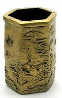 """Підставка для ручок """"Дракони"""" під бронзу (11х7х8 см)"""