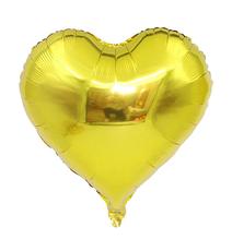 """Шар воздушный """"Сердце"""" , фольгированный, 45 см, цвет золото"""