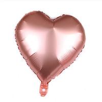 """Шар воздушный """"Сердце"""" , фольгированный, 45 см, цвет св.бронза,  матовый"""