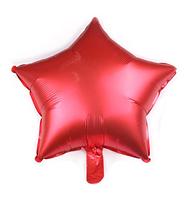 """Шар воздушный """"Звезда"""" , фольгированный, 45 см, цвет красный, матовый"""