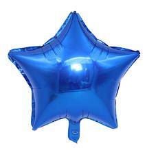 """Шар воздушный """"Звезда"""" , фольгированный, 45 см, цвет синий"""