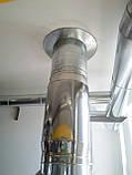 Дымоход Ø120 нержавейка/нержавейка 0,8мм AISI304, фото 2