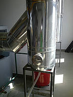 Дымоход Ø130 нержавейка/нержавейка 0,8мм AISI430, фото 1