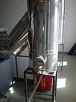 Труба дымоходная сэндвич Ø120 нержавейка/оцинковка 0,8мм AISI430, фото 1