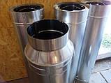 Дымоход Ø120 нержавейка/нержавейка 0,8мм AISI304, фото 5