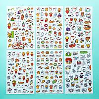 Наклейки стикеры самоклеющиеся Твой Кот для органайзеров и предметов 6 шт.