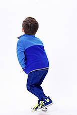 Кофта детская флисовая утеплённая Синие краски Berni, фото 3
