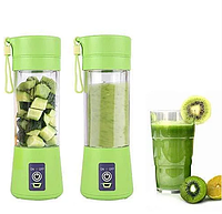 Спортивный Блендер шейкер Smart Juice Cup зеленый беспроводной USB аккумулятор повербанк