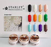 Крем гель Starlet Professional для обьемных рисунков и лепки 5 г №01, черный