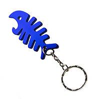 Брелок-открывашка для ключей Fish Skeleton Blue