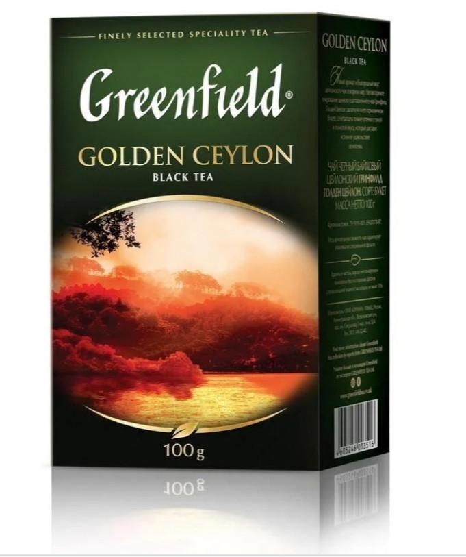 """Чай """"Greenfield"""" черный листовой 100г"""