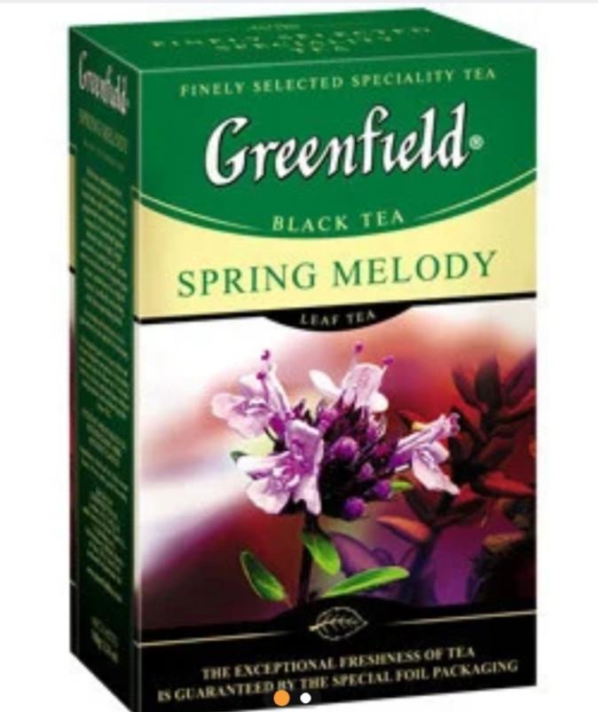"""Чай """"Greenfield"""" черный с ароматом чебреца 100г листовой"""