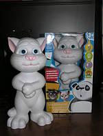 Кот Том интерактивный повторюшка-сказочник, арт. LX 771 S (белый)