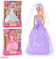 """Лялька (кукла) """"Defa Lucy"""" 28 см 6003 (48шт/2) """"Наречена"""", змінює колір волосся, 3 види, в кор. 33*6*22 см"""