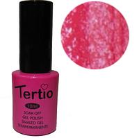 TERTIO гель - лак № 168(ярко-розовый с блестками)10 мл