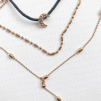 Женское многослойное ожерелье с Месяцем AILEND золотого цвета