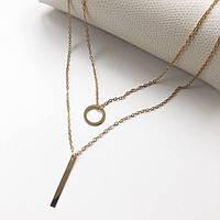 Женское многослойное ожерелье Стильное AILEND золотого цвета