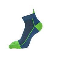 Носки с пальцами VERIDICAL 40-44 Сине-салатовый