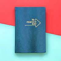 Планер Мотивирующий  My perfect day LifeFLUX А5 Синий Металлик русский язык
