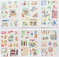 Наклейки стикеры детские Фестиваль еды Gimue самоклеющиеся 6 шт.