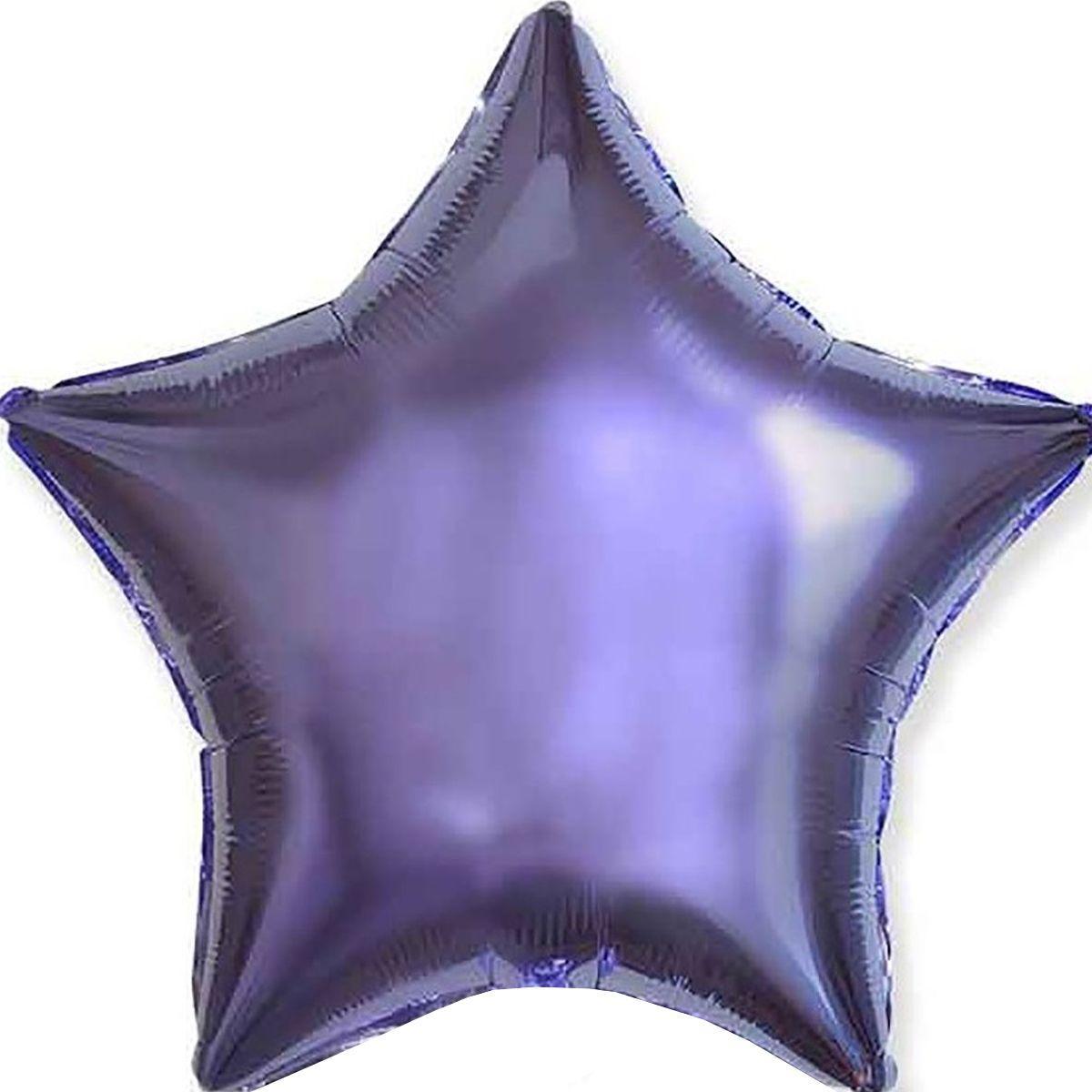 """Фольгированный шар ФМ 18"""" звезда лиловая"""