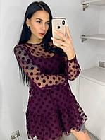 Платье 2-ка с евросеткой горох, фото 1
